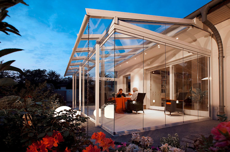 Katlanır Cam Balkon Sistemleri Ada İnşaat Akdeniz Balkon, Veranda & Teras