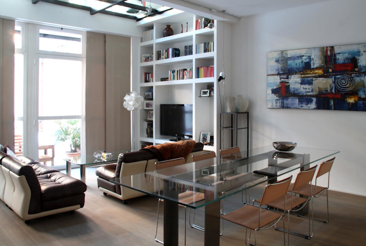 PRANZO_LIVING T+T ARCHITETTURA Soggiorno moderno