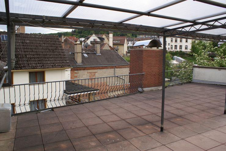 Dachterrasse - Vorher Karl Kaffenberger Architektur   Einrichtung Ausgefallener Balkon, Veranda & Terrasse