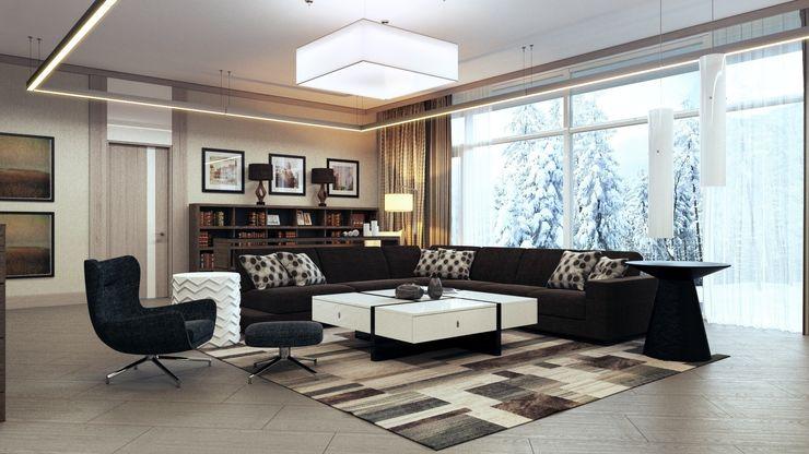 Студия Искандарова Living room