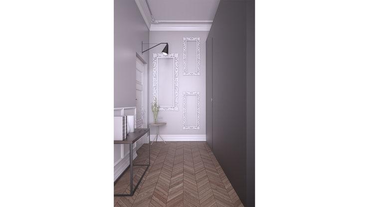 Onlydesign Minimalistische gangen, hallen & trappenhuizen