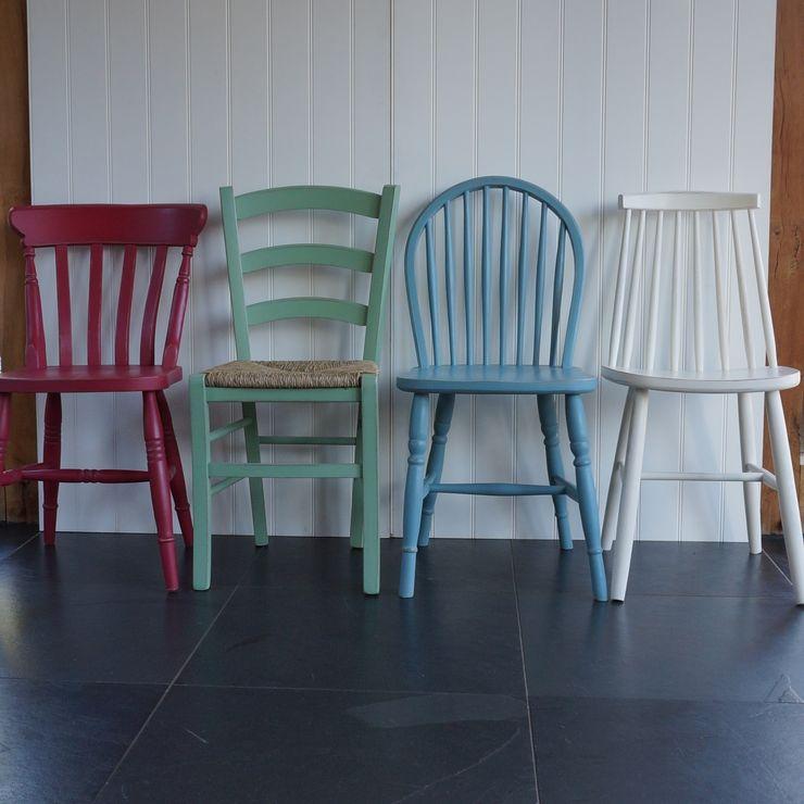 Mismatched Dining Chairs Rectory Blue Salle à mangerTabourets & bancs