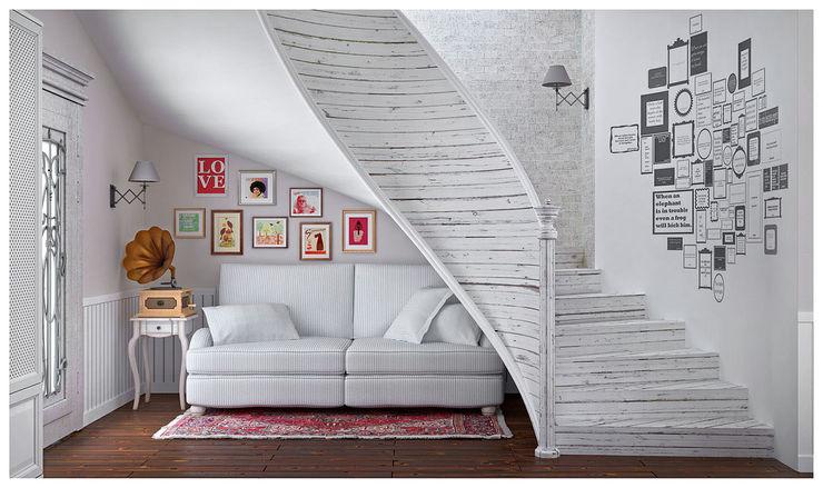 ILKIN GURBANOV Studio Scandinavian style corridor, hallway& stairs