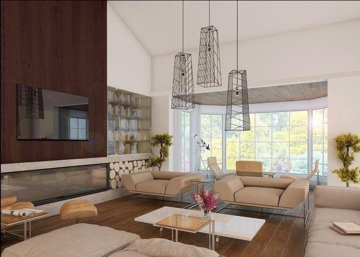 Ankarada bir ev homify Modern Oturma Odası