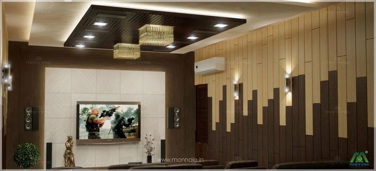 Home theatre Monnaie Interiors Pvt Ltd Modern media room