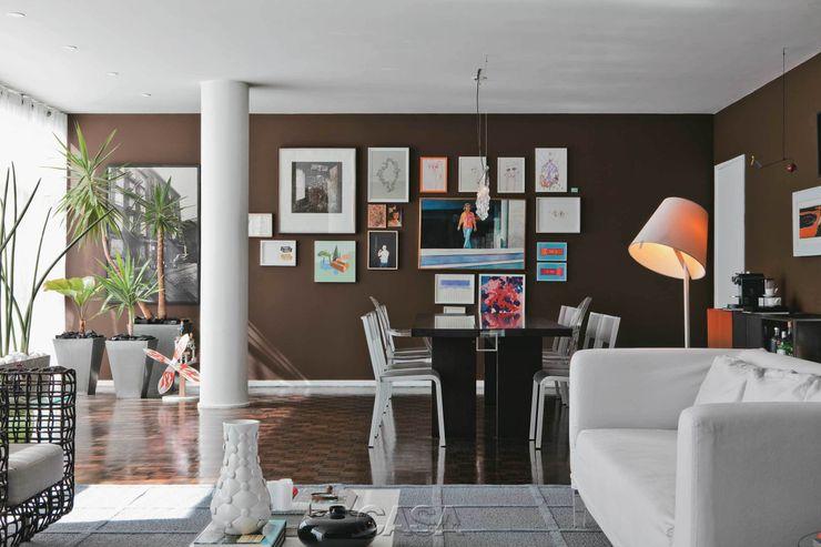 """Apto. Higienópolis SP - """"Por Amor a Arte """" AMMA PROJETOS Salas de jantar modernas"""