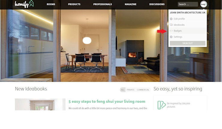 How do I integrate badges and widgets? homify UK