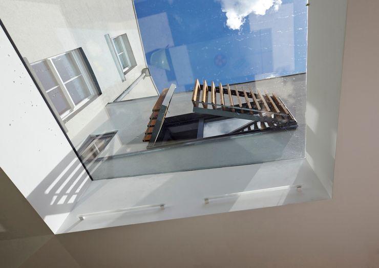 Brise Soleil through skylight Neil Dusheiko Architects Modern houses