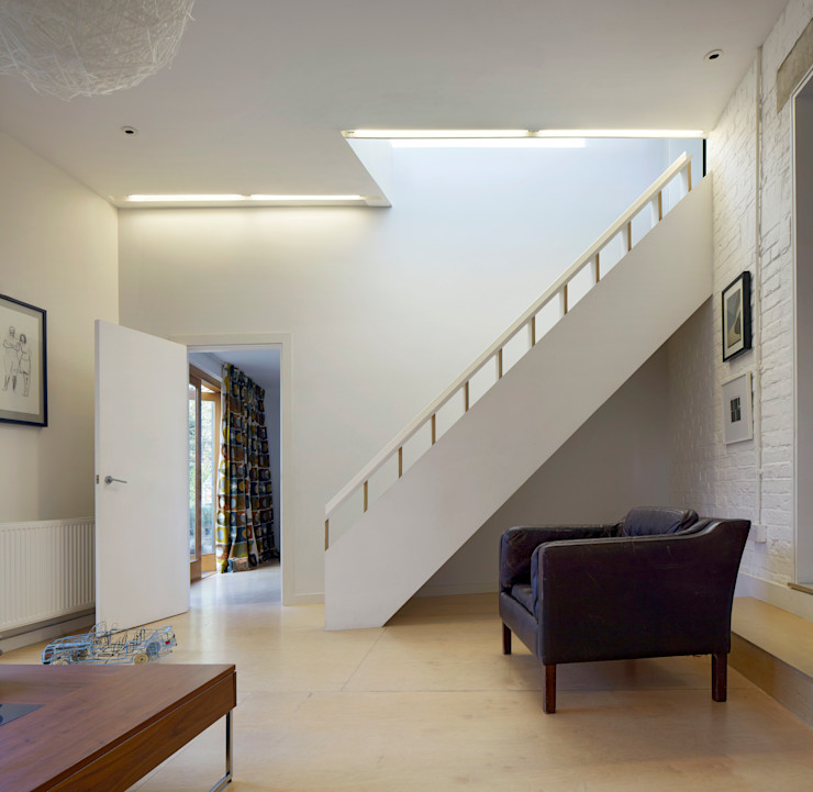 Staircase Neil Dusheiko Architects Modern corridor, hallway & stairs