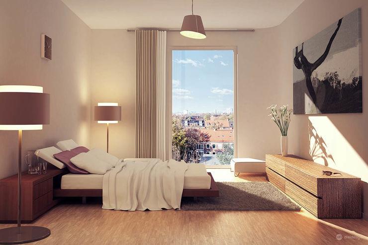 Ausblick Eilbek - Ein Passivhaus für höchste Ansprüche dreidesign Moderne Schlafzimmer