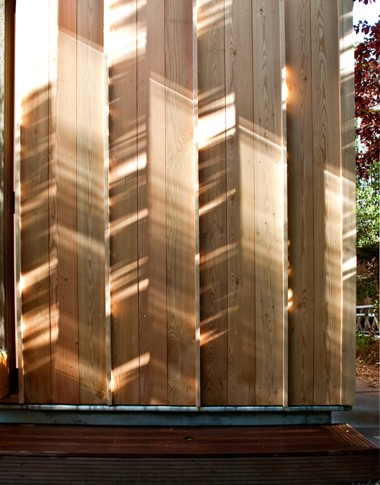 Timber cladding detail Neil Dusheiko Architects Modern houses