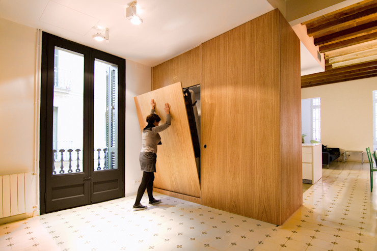 IF arquitectos Eclectic style bedroom