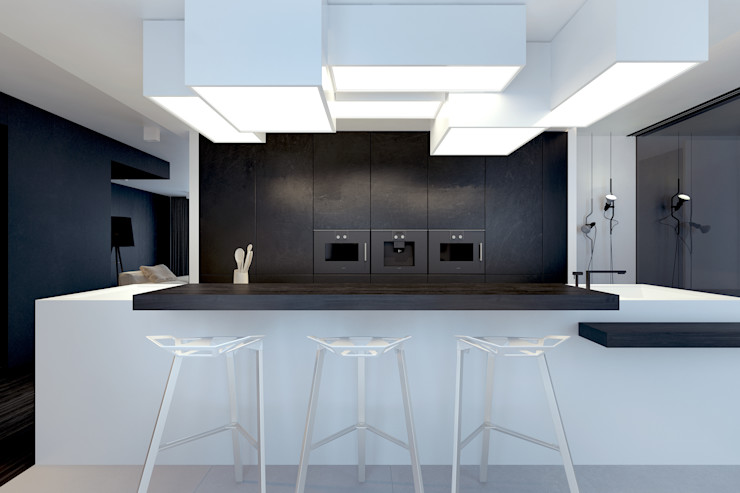 KUOO ARCHITECTS ミニマルデザインの キッチン