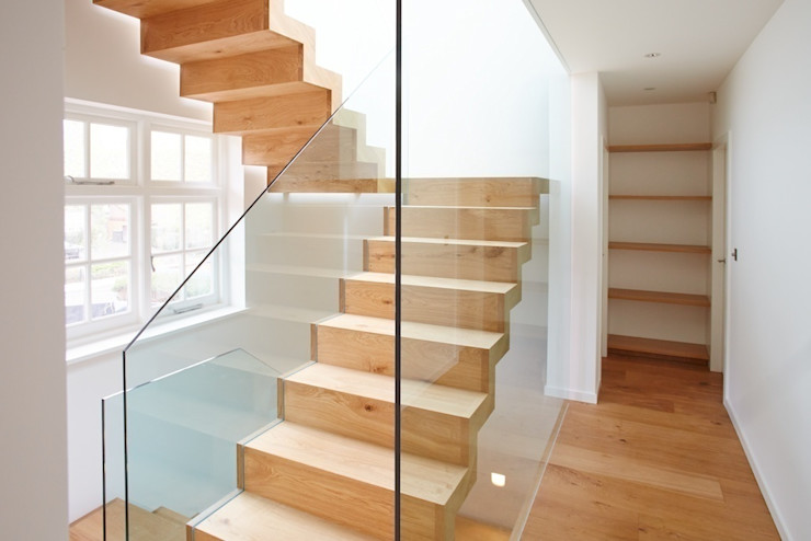 North London House Extension Caseyfierro Architects Corredores, halls e escadas modernos