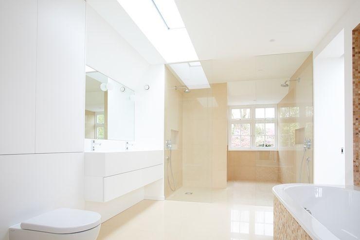 North London House Extension Caseyfierro Architects Casas de banho modernas