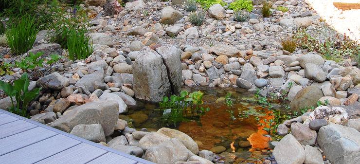 Alpine water feature Robert Hughes Garden Design Rustic style garden