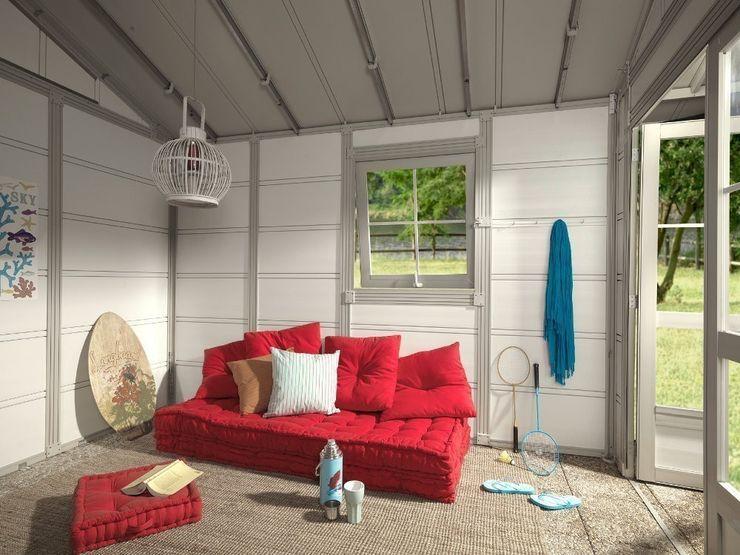 Interior de caseta de jardín Soluciones Utiles Hogarden JardinesMarquesinas, toldos e invernaderos