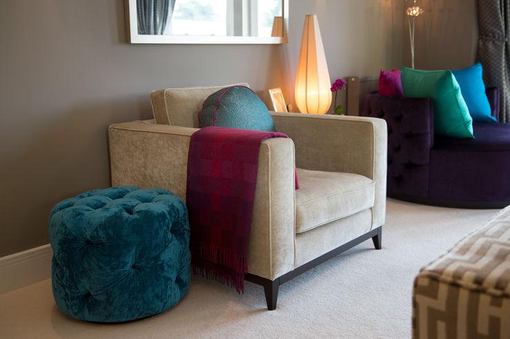 Neutral Velvet Modern Square Armchair Design by Deborah Ltd Living roomSofas & armchairs