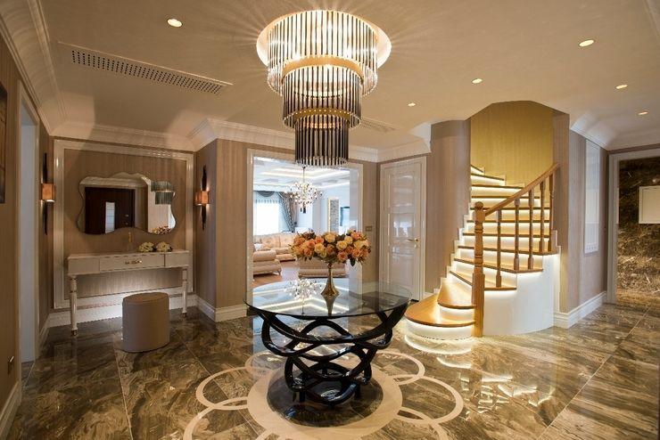 BABA MİMARLIK MÜHENDİSLİK Eclectic style corridor, hallway & stairs