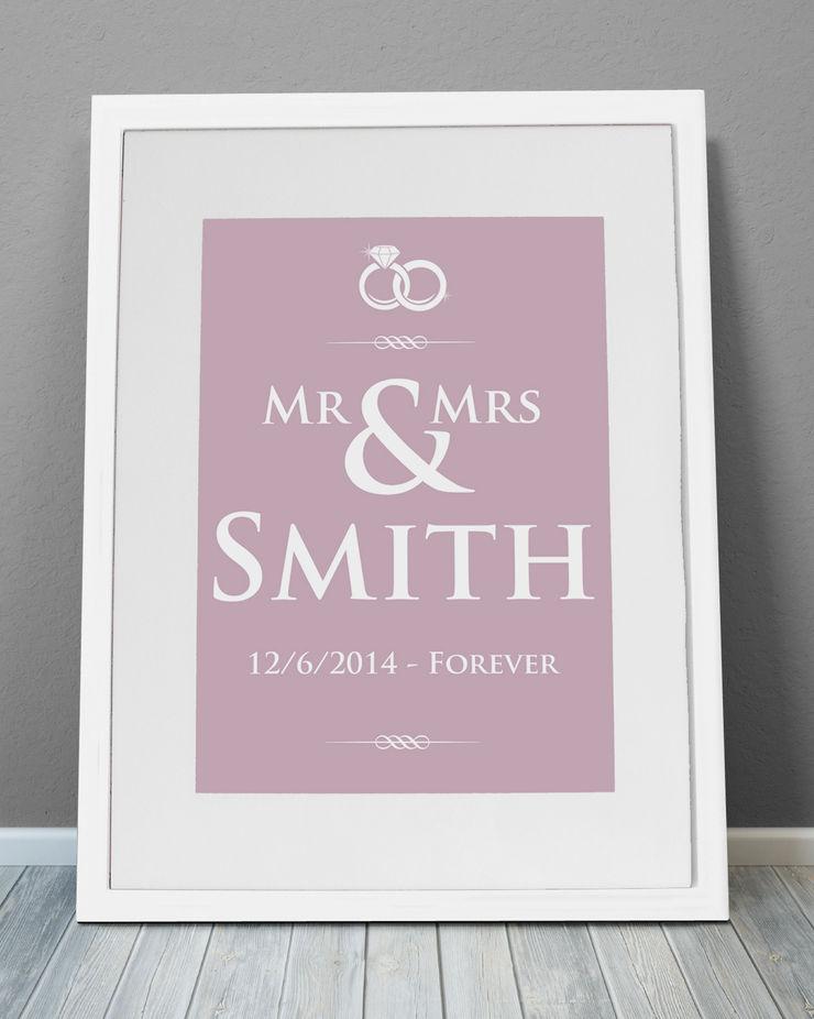 Personalised Print - Wedding Rings MAYKI ІлюстраціїКартини та картини