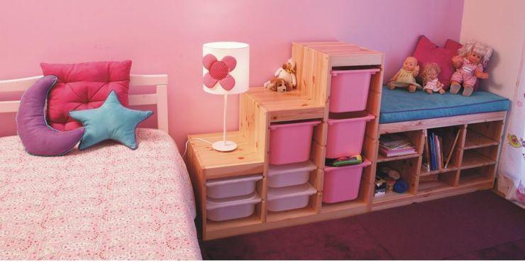 Quarto de menina Traço Magenta - Design de Interiores Quartos de criança modernos