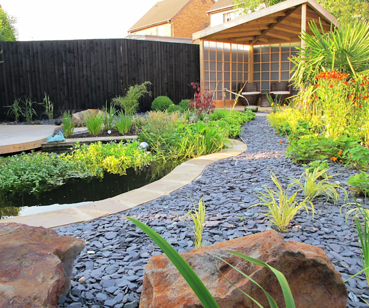 Zen Inspired Garden, Bradley Stoke Katherine Roper Landscape & Garden Design Giardino in stile asiatico