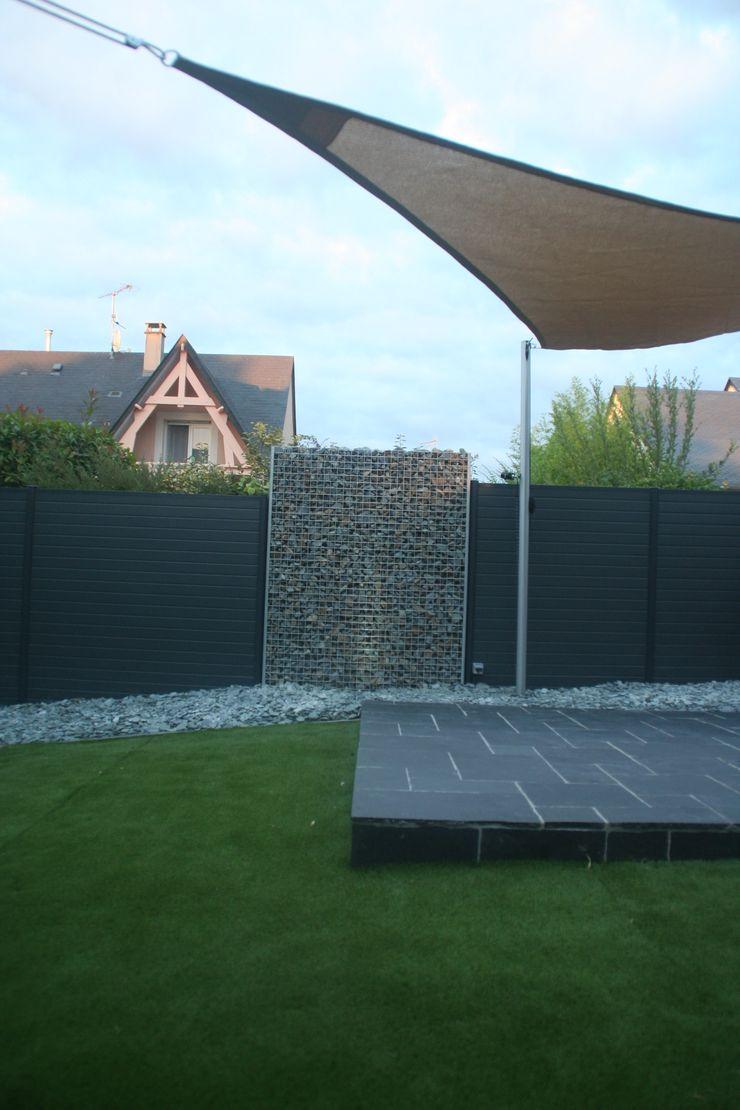 terrasse et gabion EURL OLIVIER DUBOIS Jardin moderne
