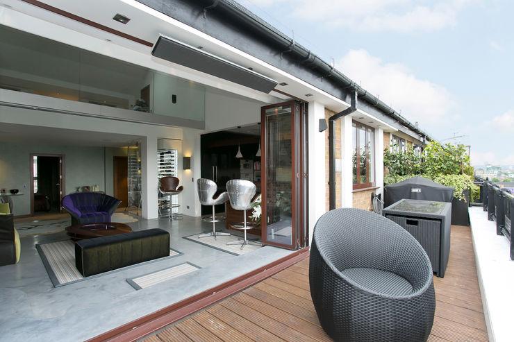 Terrace Temza design and build Modern balcony, veranda & terrace