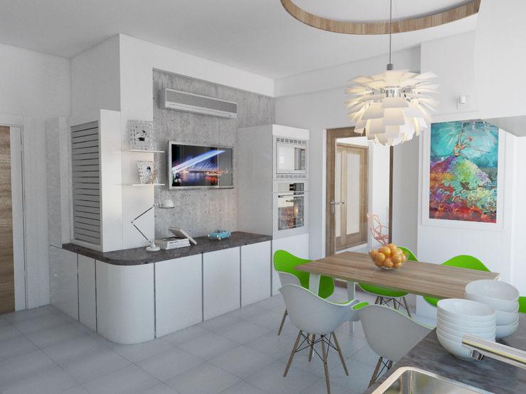 İNDEKSA Mimarlık İç Mimarlık İnşaat Taahüt Ltd.Şti. KitchenLighting
