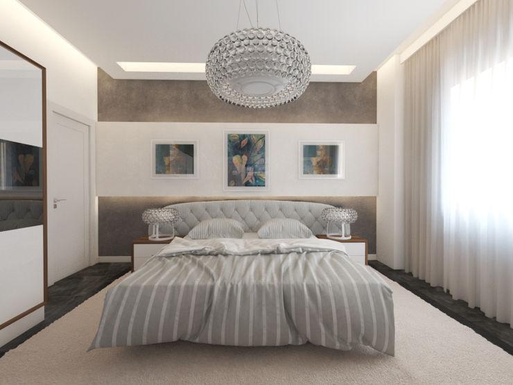 İNDEKSA Mimarlık İç Mimarlık İnşaat Taahüt Ltd.Şti. BedroomBeds & headboards