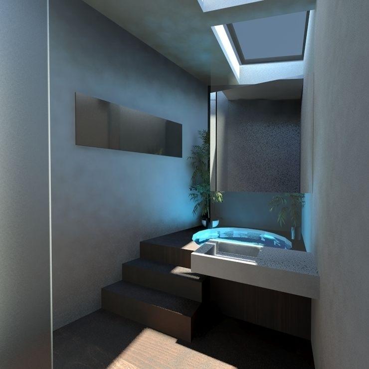 Bagno padronale gk architetti (Carlo Andrea Gorelli+Keiko Kondo) Bagno minimalista