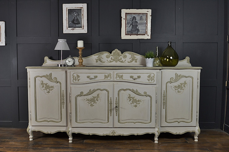 4 Door Shabby Chic French Sideboard The Treasure Trove Shabby Chic & Vintage Furniture Dining roomDressers & sideboards