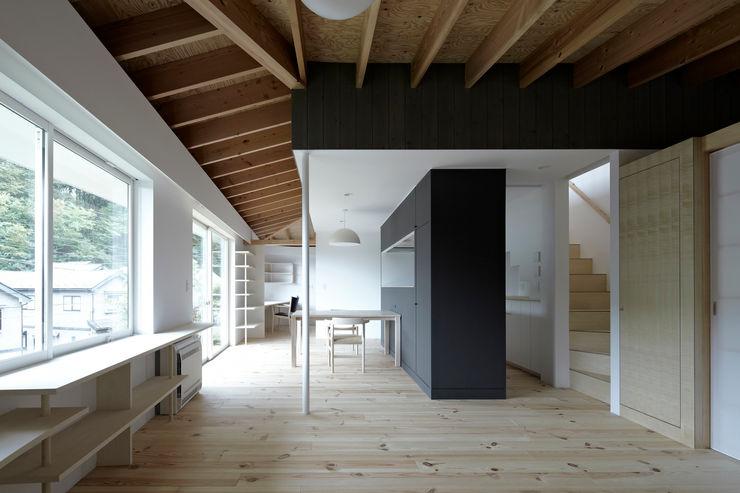 陽傘の家 池田雪絵大野俊治 一級建築士事務所 オリジナルデザインの リビング