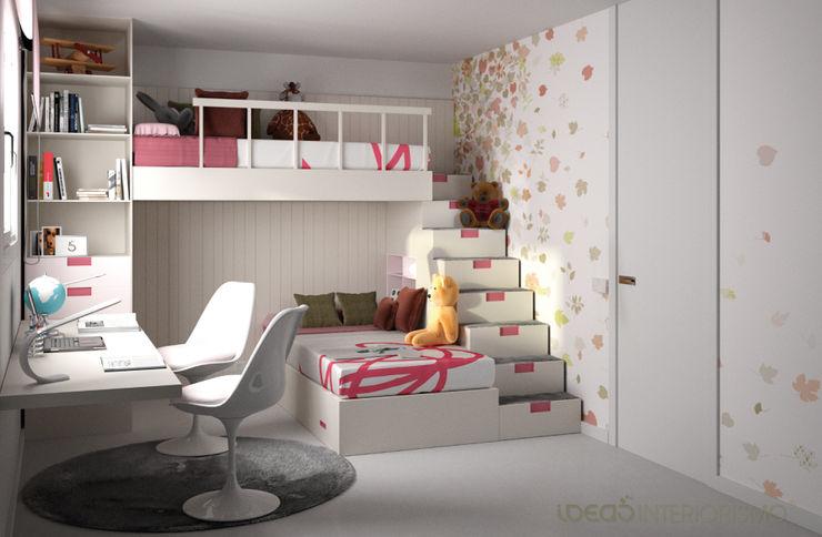 Dormitorio juvenil Irene y Natalia. Ideas Interiorismo Exclusivo, SLU Dormitorios de estilo mediterráneo