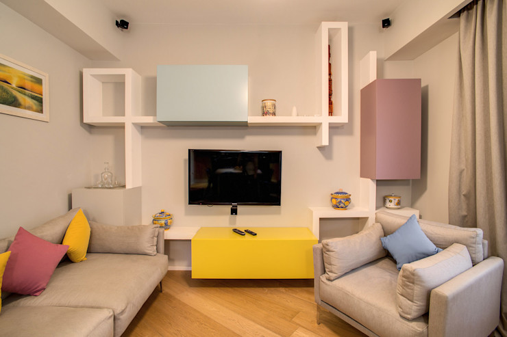 VEGEZIO MOB ARCHITECTS Sala multimediale moderna