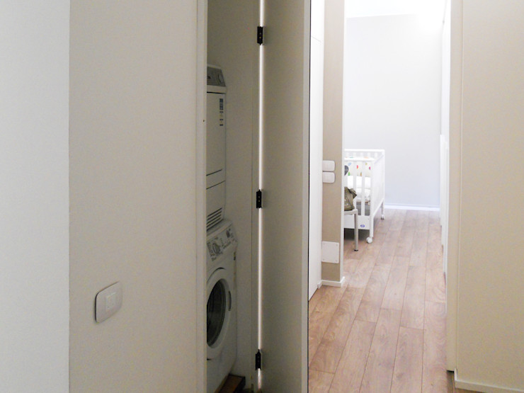 bdastudio Minimalistische gangen, hallen & trappenhuizen