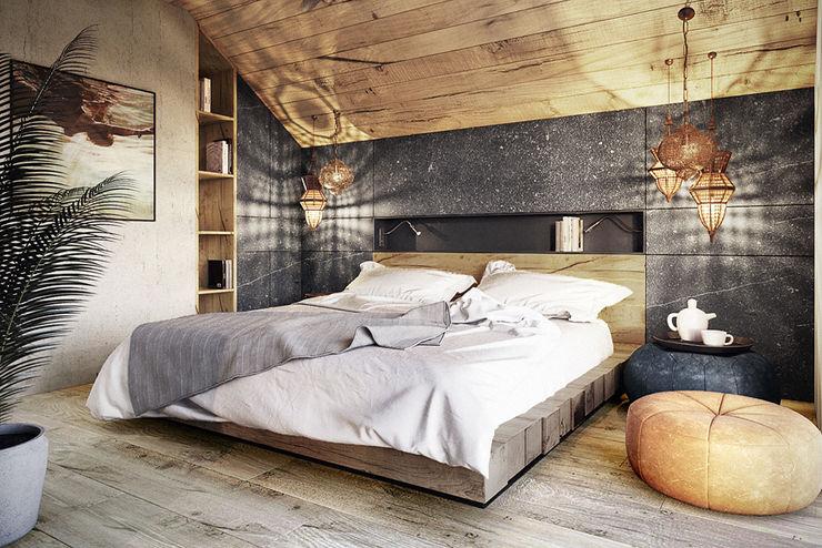 razoo-architekci Dormitorios de estilo moderno