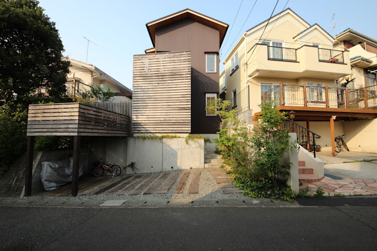 新井アトリエ一級建築士事務所 現代房屋設計點子、靈感 & 圖片