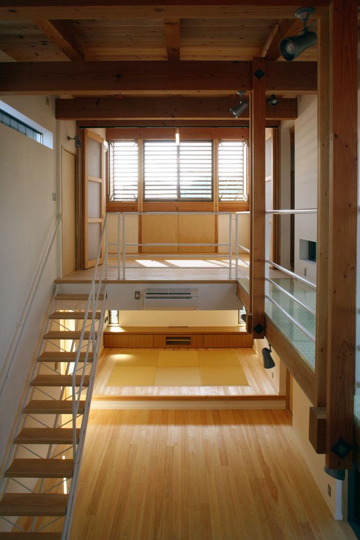 階段 白根博紀建築設計事務所 モダンスタイルの 玄関&廊下&階段