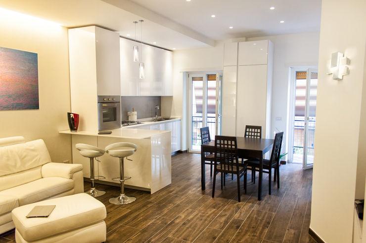 Zona pranzo e cucina post operam Fluido Design Studio