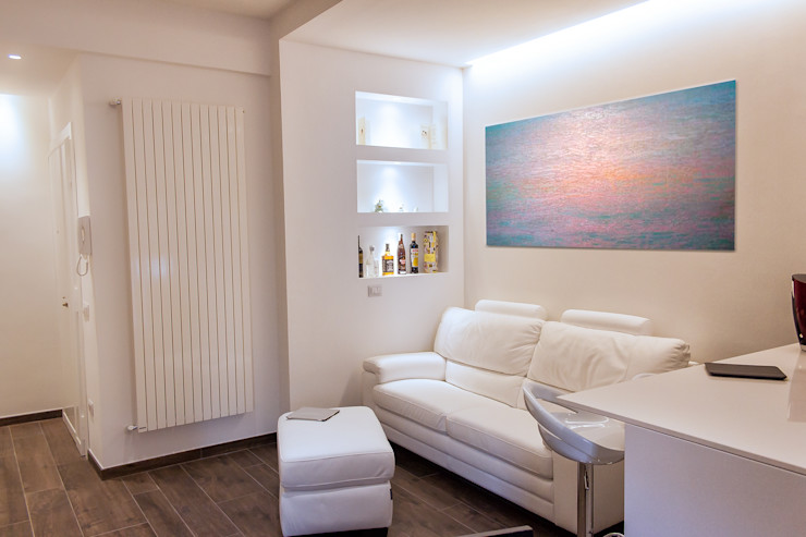 Zona living post operam Fluido Design Studio