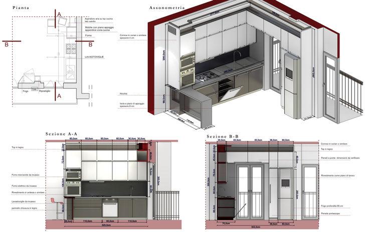 Progetto della cucina Fluido Design Studio
