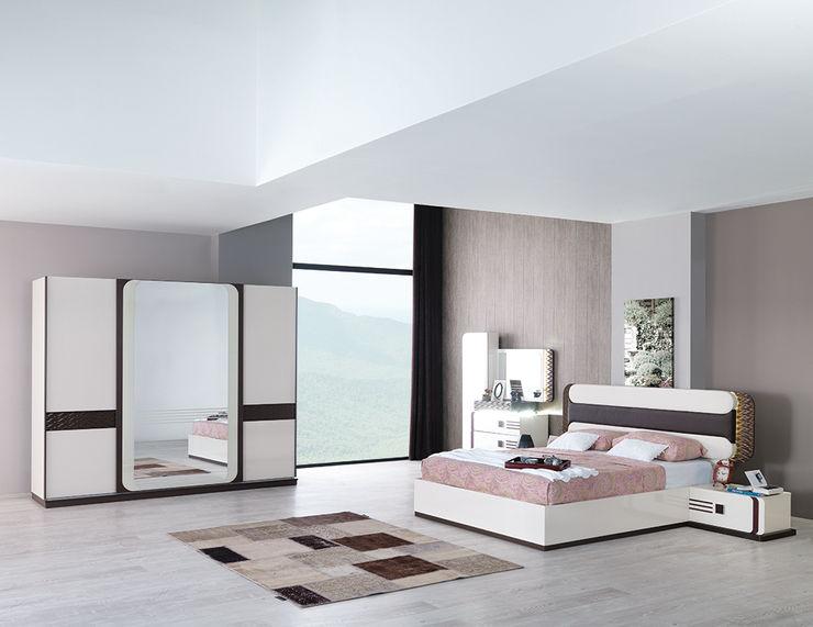 Modern Yatak Odası Takımları Mahir Mobilya Yatak OdasıElbise Dolabı & Komodinler
