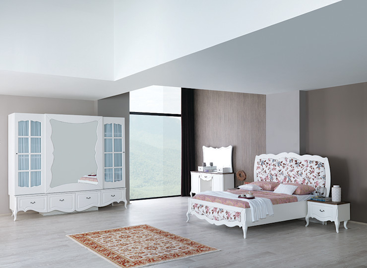 Country yatak odası modelleri Mahir Mobilya Yatak OdasıElbise Dolabı & Komodinler