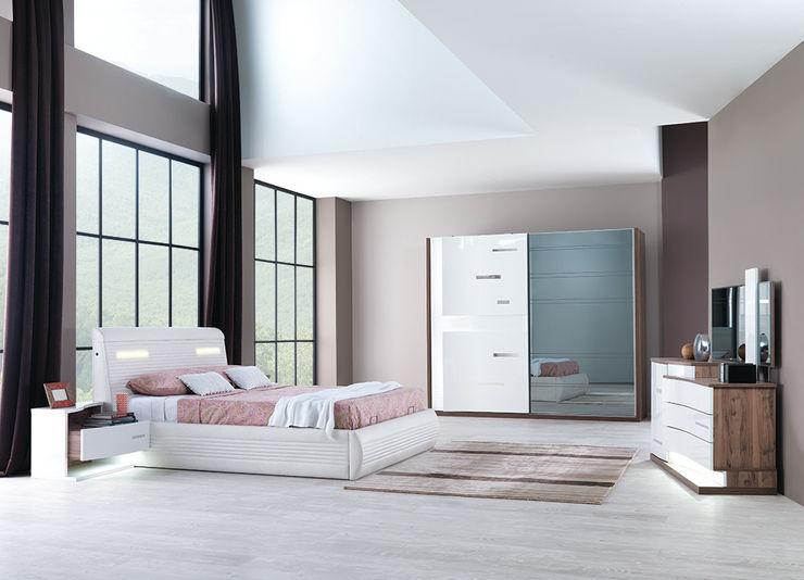 modern yatak odaları Mahir Mobilya Yatak OdasıYataklar & Yatak Başları