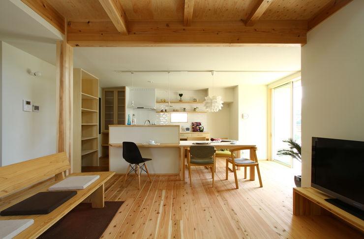 下岩成の家 有限会社 コアハウス 北欧デザインの リビング