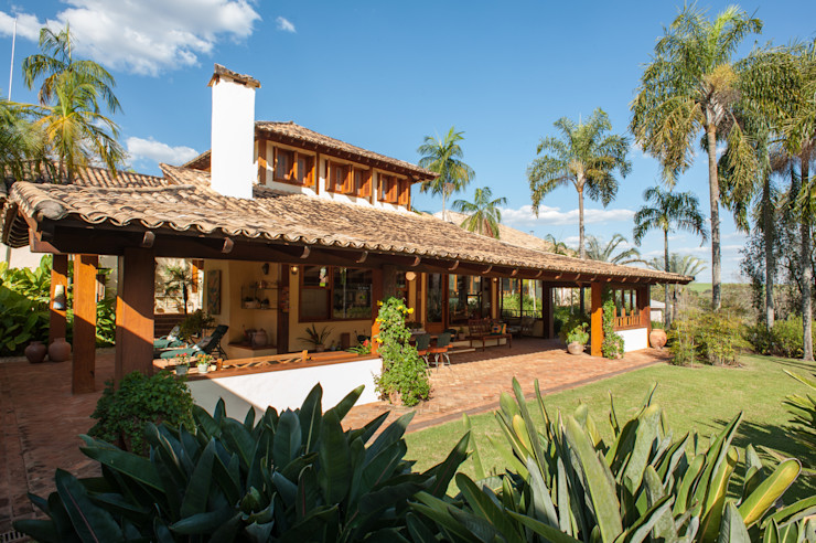PM Arquitetura Rustic style house