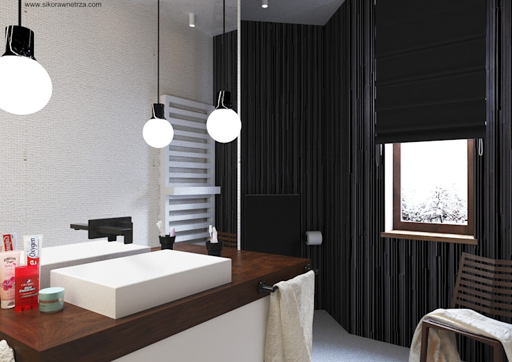 Sikora Wnetrza Salle de bain minimaliste