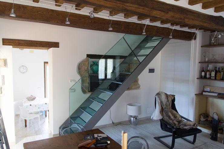 Massimo Neri architetto Couloir, entrée, escaliers modernes