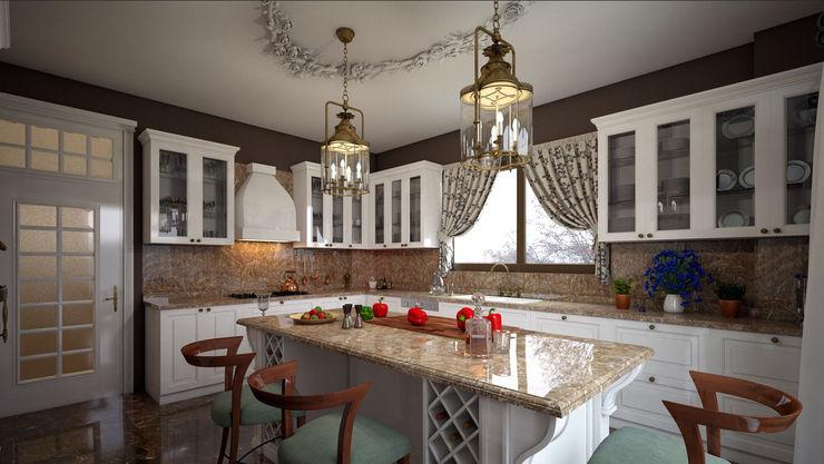 MUTFAK VE BANYO TASARIMLAR erenyan mimarlık proje&tasarım Rustik Mutfak